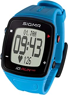 Sigma 运动心率监测仪 iD.RUN HR pacific blue,GPS 手表,手腕心率测量,活动追踪器,蓝色