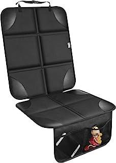 儿童汽车座椅保护垫,防水 600D *厚,带防滑衬垫汽车座椅保护垫,皮革座椅(1 件装,黑色)