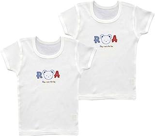 Baby Story 2件装 罗纹一点印花 短袖圆领衬衫 JTP10134 日本制造 萨克斯 95