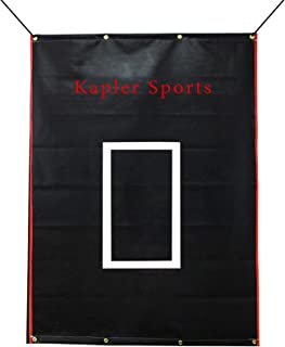 Kapler 乙烯基后挡棒球/垒球后挡击球笼目标带弹力,用于击球击球投球 6x8