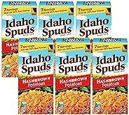 Idaho Spuds Premium Hashbrown Potatoes, 4.2oz, 6 Count