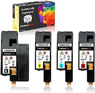 Professor Color Re-Coded 硒鼓替换件适用于 Xerox WorkCentre 6027 6025,Xerox Phaser 6022 6020 | 106R02759 106R02758 106R02757 106R02...