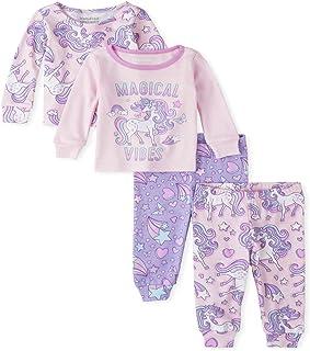 The Children's Place 女童婴幼儿独角兽舒适棉质睡衣 4 件套
