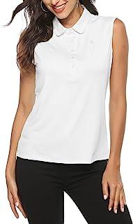 AIRIKE 高尔夫 Polo 衫 女式 无袖 夏季运动 运动 时尚 工作 速干 女式 背心
