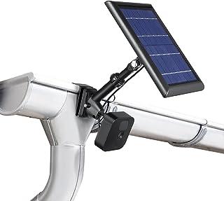 Wasserstein 2 合 1 通用排水沟支架兼容 Wyze、Blink、Ring、Arlo、Eufy 相机 – 将*摄像头和太阳能板放在一起(黑色)