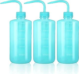 Oubest 挤压洗涤瓶 多汁浇水壶 蓝色喷水灌溉瓶 挤压洒罐 塑料清洗植物瓶 500ml 3 件
