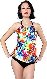 Oceanlily Halter 女式泳衣分体式泳衣上衣炭灰色/W PRT