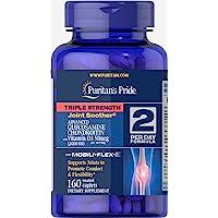 Puritan's Pride 普丽普莱 Triple Strength 胶囊,葡萄糖胺软骨素与维生素D3-160
