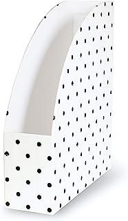 Kate Spade 凯特丝蓓 New York 信纸尺寸文件夹和杂志夹 黑色和白色桌面收纳包 黑色 Spade Dot
