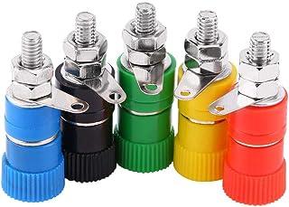 母头装订插口,20 个装订柱香蕉插座套件,适用于电子测试设备 5 种颜色