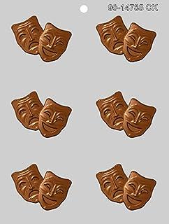 CK 产品 6.35 厘米喜剧和悲剧面具巧克力模具