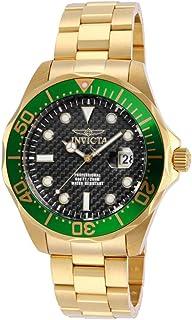 Invicta 男士 14358 Pro Diver 模拟显示屏瑞士石英金色手表