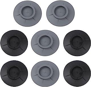JiaUfmi 8 件套洗衣机防震垫、减震和降噪 洗衣机支撑、干燥器和洗衣机橡胶脚垫保护地板(黑色、灰色)
