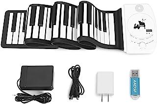 便携式 88 键卷钢琴 - ANDSF *版柔性电子钢琴,带智能处理芯片 MP3 立体声扬声器内置可充电电池,适合初学者和儿童