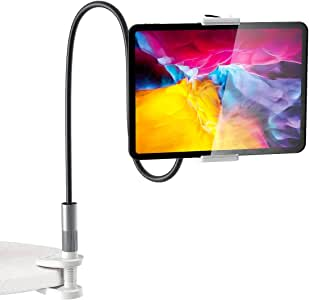Gooseneck 平板电脑支架,BlitzWolf 平板电脑支架 iPad 支架 360° 灵活平板电脑支架兼容 iPad Pro Mini Air,Galaxy Tabs,Nintendo Switch,4.7 - 12.9 英寸手机和平板电脑