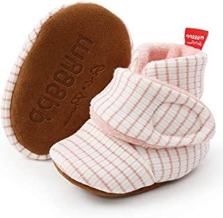 LAFEGEN 男宝宝女童靴防滑软底新生儿舒适抓绒靴*步步行者婴儿鞋(0-18 个月)