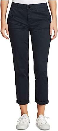 William Rast 女式斜纹卷袖口及踝裤