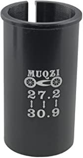 WHYHKJ 自行车座椅柱管适配器 27.2 至 30.9 山地自行车公路自行车 MTB BMX 自行车自行车自行车配件,黑色