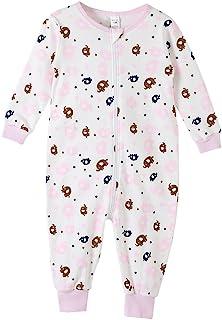 Sunnycows 儿童连体睡衣棉质易拉链开合一件式儿童睡衣尺码 3T-9T.