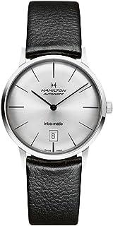 Hamilton 内置 Matic 黑色表盘皮革男式手表 H38455751