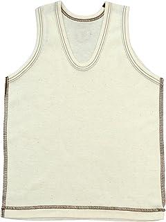 有机棉罗纹针织 u领背心 no10724日本制造 米黄色 95