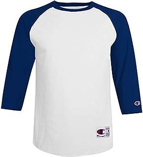 Champion 男士对比色插肩袖棒球T恤