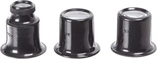 fowler 52-660-020 光学放大镜,3 件套,2x,5x 和 10x 放大