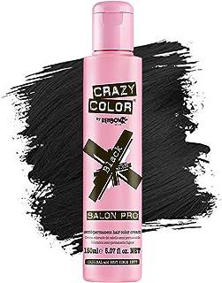 Crazy Color *剂 - 纯素和无残忍的半永久*剂 - 用于预亮或金发的临时* - 无需过氧化物或显影剂(黑色)