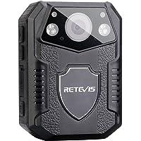 Retevis RT77 警察相机 1080P 视频,内置 16GB 存储卡,身体磨损相机夜视功能,适合执法人员(黑色…