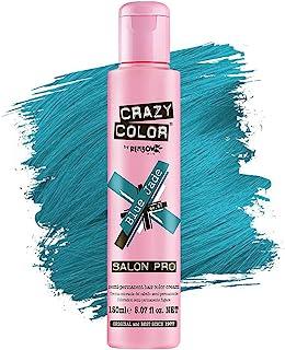 Crazy Color *剂 - 纯素和无残忍的半永久*剂 - 用于预亮或金发的临时* - 无需过氧化物或显影剂(玉蓝)