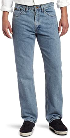 Lee 男士标准修身直筒牛仔裤 Light Stone 42W x 32L