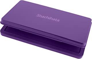 Shachihata 旗牌文具 印台 小型 特大形 紫色