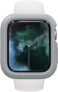 RhinoShield 缓冲保护套兼容 Apple Watch SE 和 6/5 / 4 系列 - [44 毫米] | 超薄保护套、轻盈、减震 - 铂金灰色
