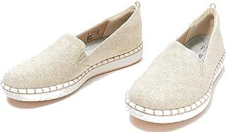 Clarks 女式 Step Glow Jade 乐福平底鞋