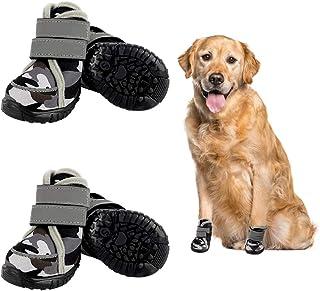Etdane 防滑狗靴防水宠物鞋,适合小型到大型狗小狗跑步徒步爪保护器带反光条适用于冬季夏季雪热路面硬木地板