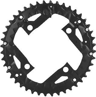 Esenlong 44T 自行车自行车圆形铝合金链环适用于 BCD 104mm 9 速度自行车黑色 1 件