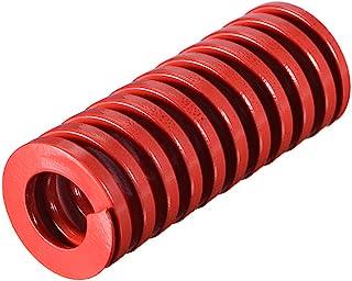 uxcell 20mm OD 50mm 长螺旋冲压中载压缩模具模具模具弹簧红色 1 件
