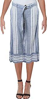 Ralph Lauren 条纹阔腿亚麻裤