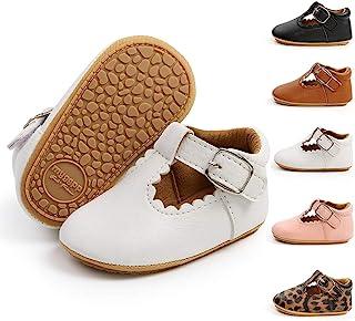 Meckior 婴儿男孩女孩经典 PU 皮革婚礼乐福鞋布洛克幼儿牛津正装鞋 First Steps Walking Flat Lazy Crib 鞋