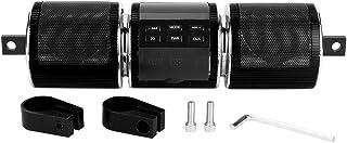 Suuonee 摩托车音响系统,通用防水蓝牙摩托车立体声扬声器蓝牙 3.0+EDR TF/USB/音乐播放器(黑色)