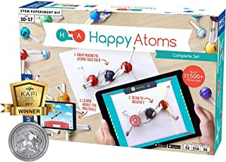 Thames & Kosmos Happy Atoms 磁性分子建模套装,原子,分子,键合,化学简介   创建数千个分子,216个活动以及适用于iOS,Android,Kindle的免费教育应用程序
