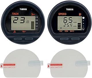 控制台护栏 船 仪表板 屏幕保护膜 适用于雅马哈 室外圆形数字多功能转速计、速度计和燃油管理、*、防刮、高清透明 [2 件装]