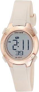 Armitron Sport 女式石英运动手表树脂表带,粉色,12(型号:45/7135PBH)