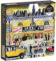 Galison Michael Storrings 爵士乐时代俱乐部拼图,1000片,多色(073535751X)