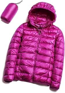 优质休闲超轻白鸭绒夹克女士秋冬保暖外套连帽派克大衣