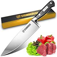 STEINBRÜCKE 厨师刀,8 英寸(约 20.3 厘米)专业厨房刀,德国不锈钢 5Cr15Mov (HRC58…