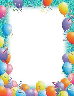 优质纸张! 气球边框字母,80 支,21.59 cm x 27.94 cm (2013168) 聚会