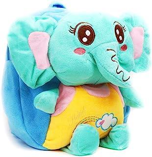 幼儿背包学前包迷你书包,适合女孩儿童,可爱大象 3D 动物卡通(蓝色)