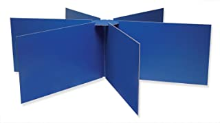 Pacon 圆形桌隐私板,直径 121.92cm X 高 35.56 cm,蓝色