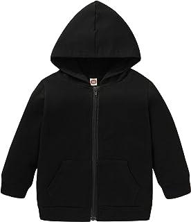 幼儿男孩女孩连帽衫运动衫休闲长袖套头毛衣连帽夹克上衣秋季冬季服装